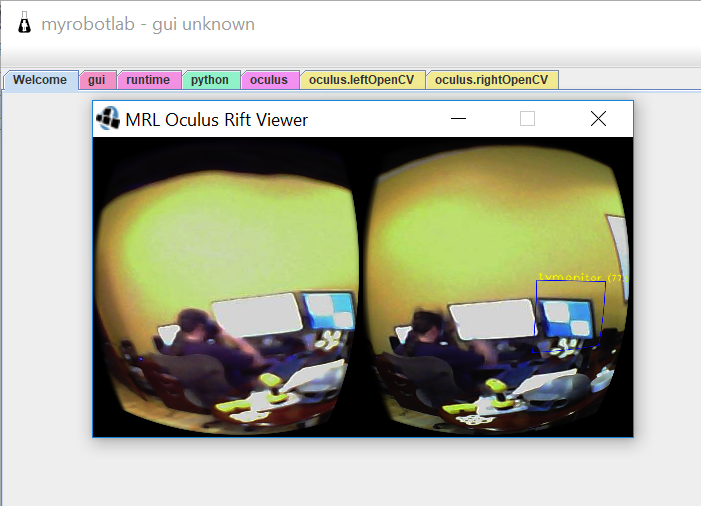 Oculus Rift with Yolo filter