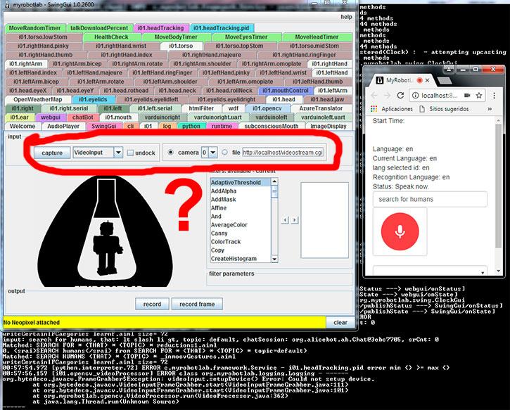 Pi camera streaming UV4L to PC with MRL | http://myrobotlab org