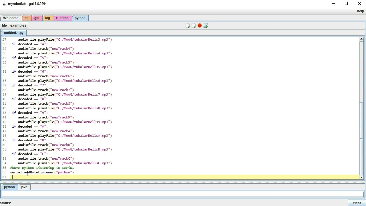 MRL MooG - Nextion Display Keyboard Gui - playing samples