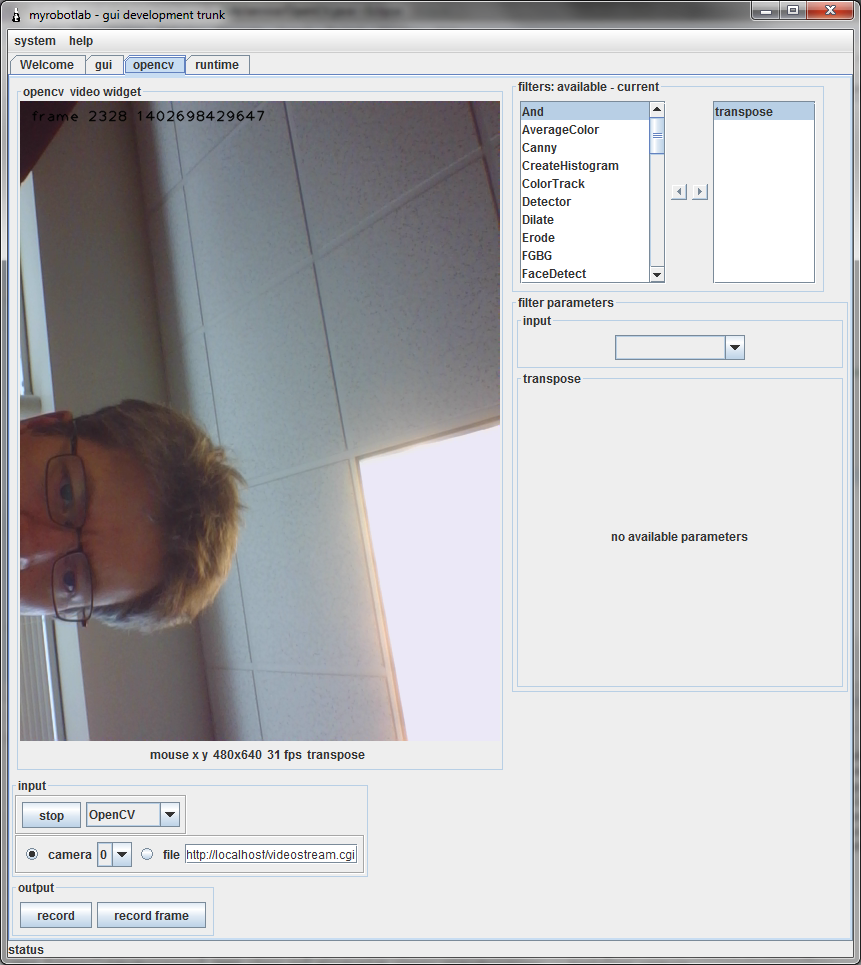 Rotate image with OpenCV | http://myrobotlab org